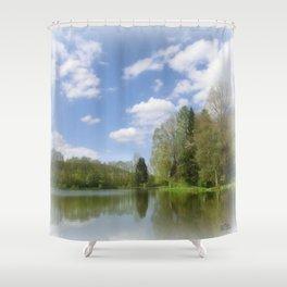 Impression Lake Shower Curtain