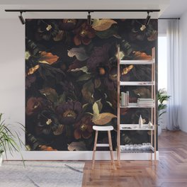 Vintage & Shabby Chic - Flowers at Night Wall Mural