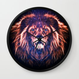 Glowing Lion Face Wall Clock
