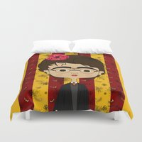 potter Duvet Covers featuring Frida Potter by Camila Oliveira