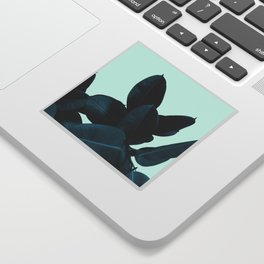 Blue Leaves Sticker