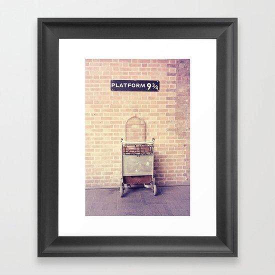 Platform 9 3/4 Framed Art Print