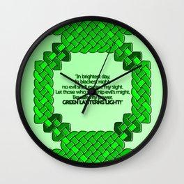 Green Lantern Symbol & Oath Wall Clock