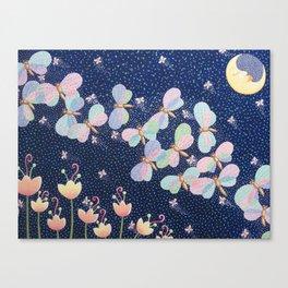 Moonlight Moth Meander Canvas Print
