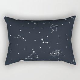 Air - Night Sky Illustration Rectangular Pillow