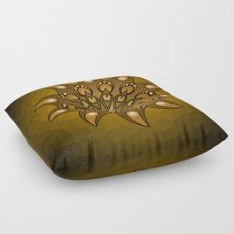 Pure gold mandala Floor Pillow