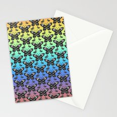 Butterfly pattern in color Stationery Cards