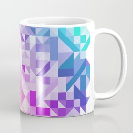 Colorful Geometric Pattern Saturated Rainbow Pattern Design (Red Pink Purple Blue) Coffee Mug