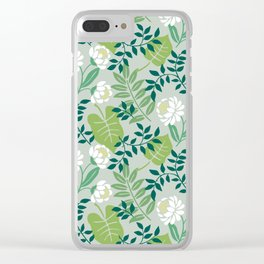 Leafy Floral Clear iPhone Case
