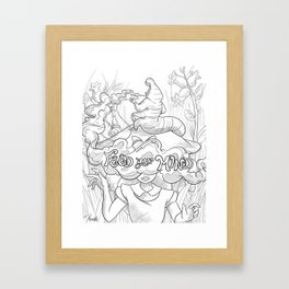 Feed Your Mind (Black and White) Framed Art Print
