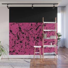Splat Black On Yarrow Boarder Wall Mural