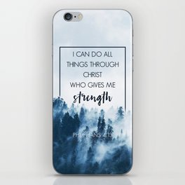 Forest Philippians 4:13 iPhone Skin