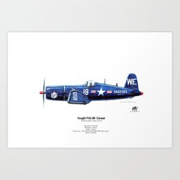 Vought F4U-4B Corsair Art Print
