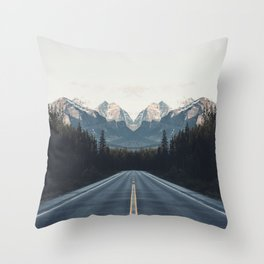 Mountain Twins Throw Pillow