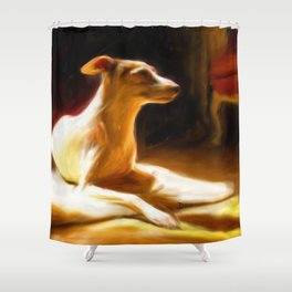 Sophie in the sun Shower Curtain
