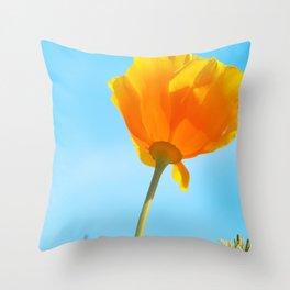 California Golden Poppy Throw Pillow