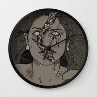 goddess Wall Clocks featuring Goddess by MOBERG DESIGN