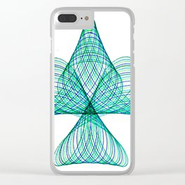 Unconventional spiro Clear iPhone Case