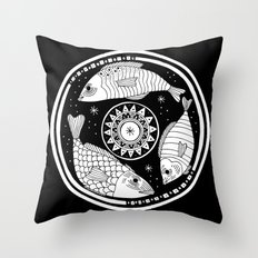 Magic Fish I Throw Pillow