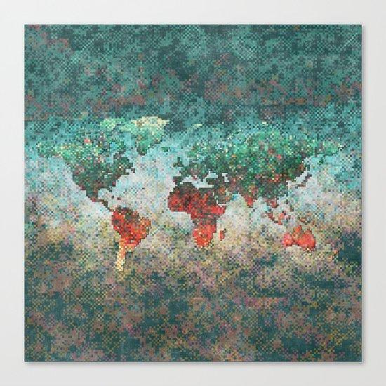 World Map Square Canvas Print