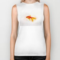 goldfish Biker Tanks featuring Goldfish by emegi
