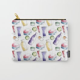 Watecolor cosmetic products seamless pattern Carry-All Pouch