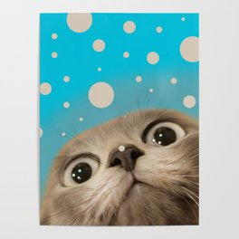 """Fun Kitty and Polka dots"" Poster"