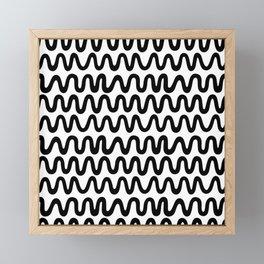Bold Black Waves Framed Mini Art Print