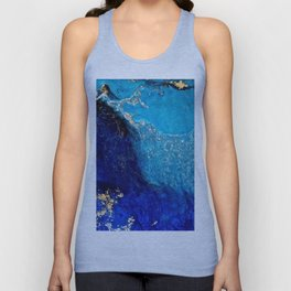 Blue And Gold Shimmer Unisex Tank Top