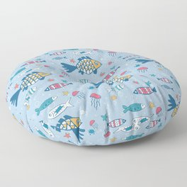 Fish and Friends Floor Pillow