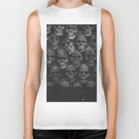 skulls Biker Tanks featuring SKULLS by Danielle Fedorshik