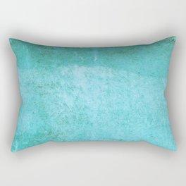 Stone Teal Blue Abstract Rectangular Pillow