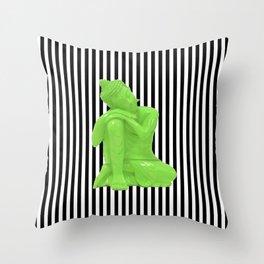 My  inner Green Buddha | Namaste Pop Art Buddha Throw Pillow