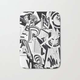 History of Art in Black and White. Conceptualism Bath Mat