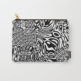 Black  and white psychedelic optical illusion Carry-All Pouch