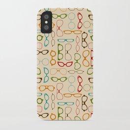 Retro glasses iPhone Case