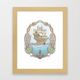 Island Castle by the Sea Framed Art Print