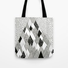 The Mountain Covered in Trees Tote Bag
