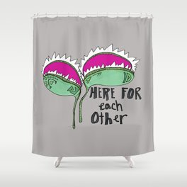 Delicate As A: Venus Fly Trap Shower Curtain