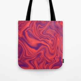 Neon Living Coral - color of year 2019, Ultra Violet Marble Abstract Gradient Pattern Tote Bag