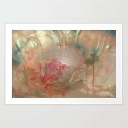 PEACHES AND CREAM AND EVERYTHING NICE THATS WHAT PALM SPRINGS IS MADE OF Art Print