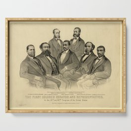 The First Colored Senator and Representatives Serving Tray