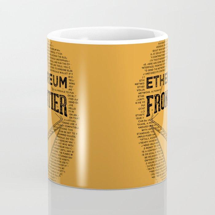 Ethereum Frontier (black on orange) Coffee Mug