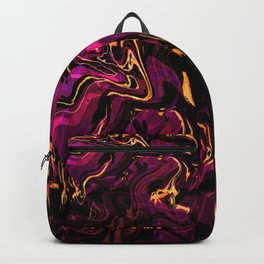 Orange, Magenta and Black Fluid Abstract 46 Backpack