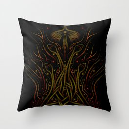 Fire from within Throw Pillow