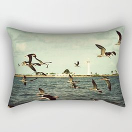Lighthouse and Skimmers Rectangular Pillow