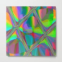 Re-Created  Glass Ceiling VI by Robert S. Lee Metal Print