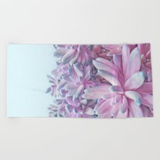 Sweet Succulents Beach Towel
