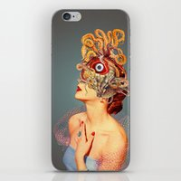 freud iPhone & iPod Skins featuring Freud vs Jung by Eugenia Loli