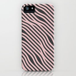 Abstract Wavy Hair Pattern iPhone Case